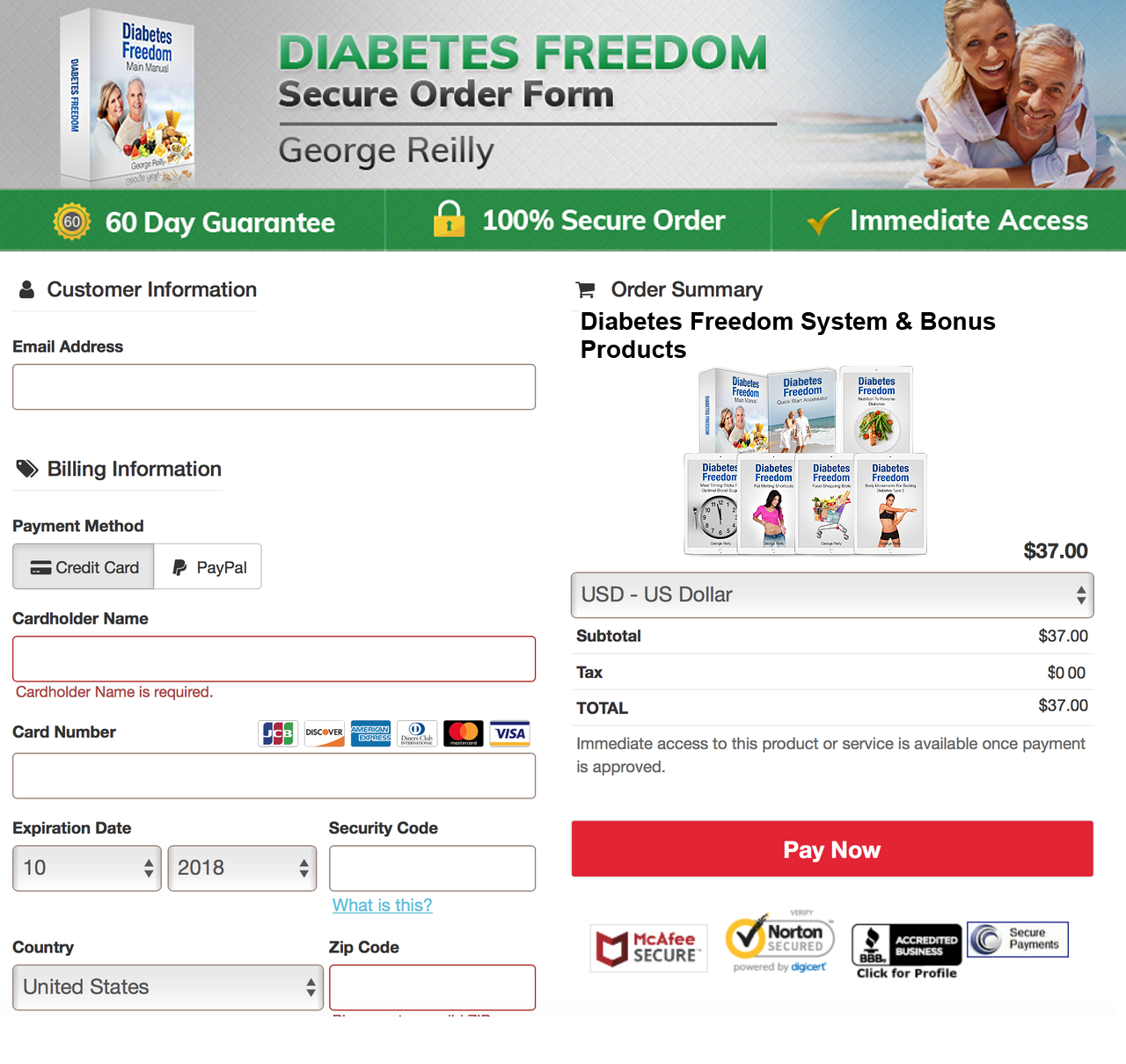 payment - Diabetes Freedom